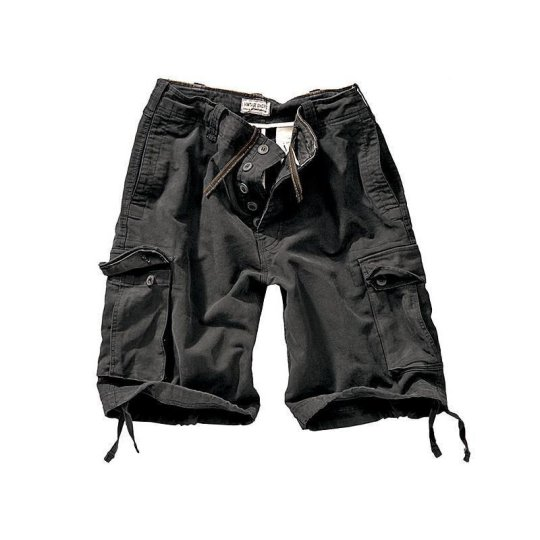 Vintage Shorts Washed schwarz