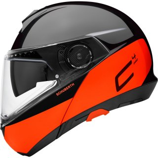 Schuberth C4 Pro Klapphelm Swipe Orange