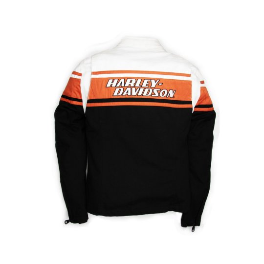 HD Drag Strip Damenjacke schwarz / orange L