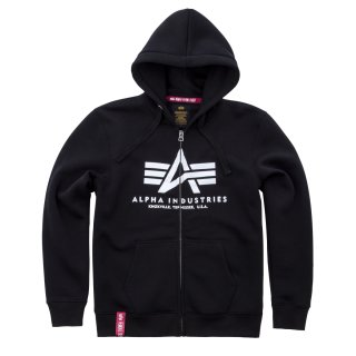 Alpha Industries Basic Zip Hoody schwarz
