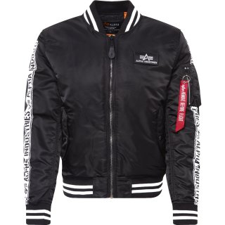 Alpha Industries Fliegerjacke MA-1 Al-Tape schwarz