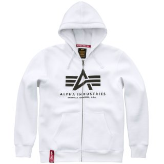 Alpha Industries Basic Zip Hoody weiß