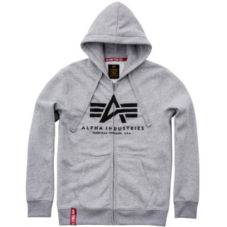 Alpha Industries Basic Zip Hoody grau