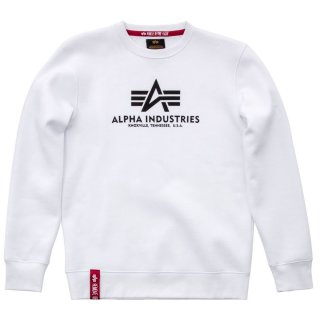 Alpha Industries Basic Sweater weiss