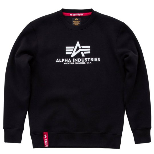 Alpha Industries Basic Sweater schwarz S