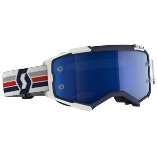 Scott Goggle Fury blau / weiß / electric blue chrome works