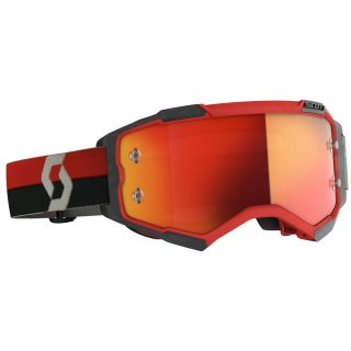 Scott Goggle Fury rot / schwarz / orange chrome works