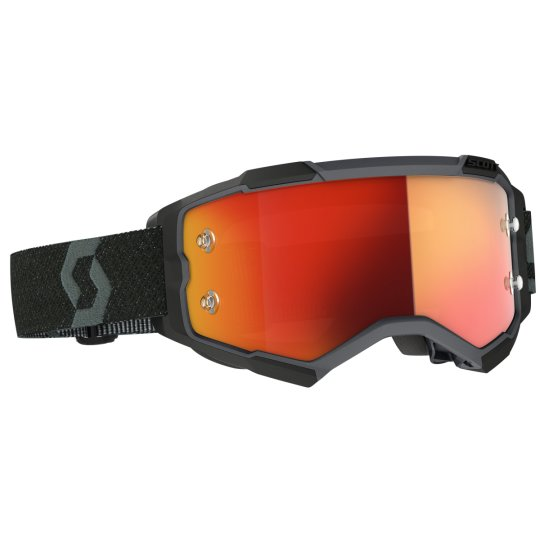 Scott Goggle Fury schwarz / orange chrome works