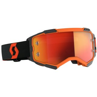 Scott Goggle Fury orange / schwarz / orange chrome works